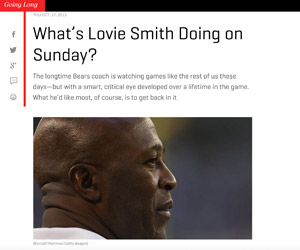A football Sunday with Lovie Smith