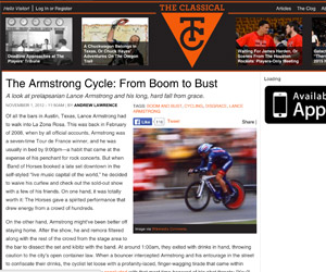 Lance Armstrong, Austin's delusional big man on campus (The Classical)