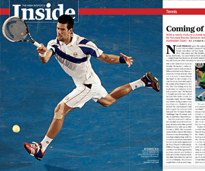 Djokovic comes of age in Melbourne (Sports Illustrated)