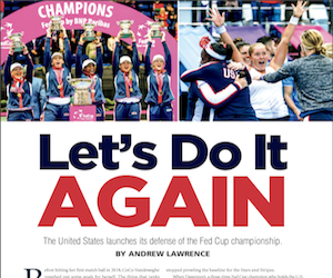A Fed Cup preview with Serena in it (Fed Cup program)