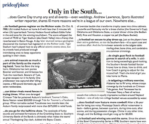 Only in the South is football, well, everything (Southern Living)